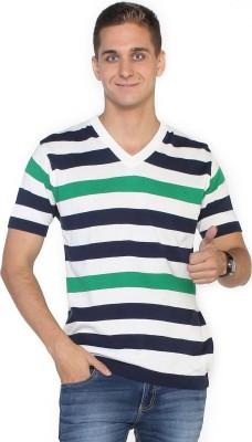 Globus Striped Men's V-neck T-Shirt