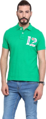 Camino Solid Men's Polo Green T-Shirt