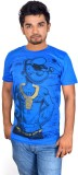 Drakeman Printed Men's Round Neck Blue T...