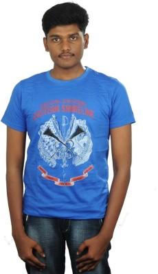 Togswear Printed Men's Round Neck Blue T-Shirt