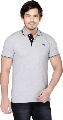 Always & Forever Solid Men's Polo Neck Grey T-Shirt