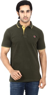 STACKIA Solid Men's Polo Dark Green T-Shirt