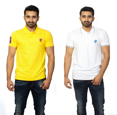 1OhOne Solid Men,s Polo Multicolor T-Shirt