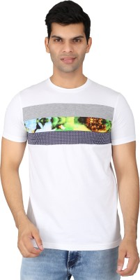 Easies Printed Men's Round Neck White T-Shirt