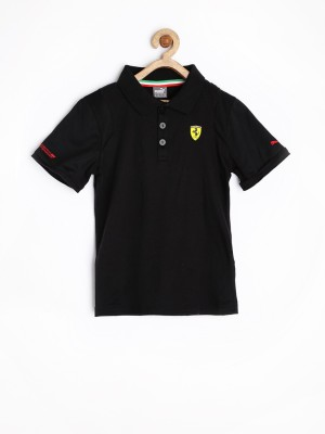 Puma Solid Boy's Polo T-Shirt