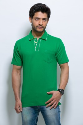 ALX New York Solid Men's Polo T-Shirt