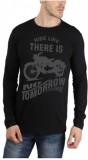 Bornify Printed Men's Round Neck Black T...
