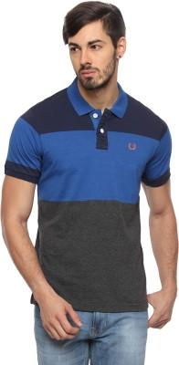 Rockstar Jeans Solid Men's Flap Collar Neck T-Shirt