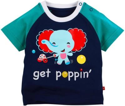 Fisher-Price Printed Boy's Round Neck Blue T-Shirt