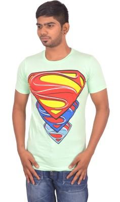 Rogue Printed Men's Round Neck Light Green T-Shirt