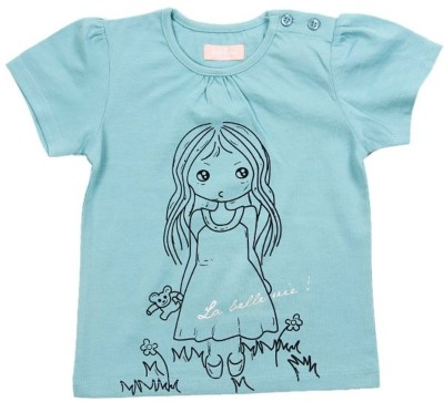 JusCubs Solid Baby Girl's Round Neck Green T-Shirt