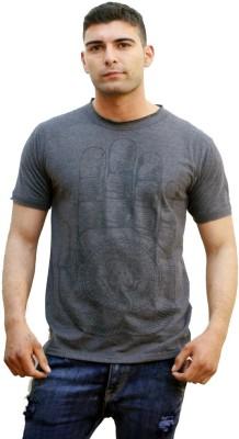 Tuntuk Printed Men's Round Neck Grey T-Shirt
