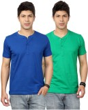 Top Notch Solid Men's Henley Blue, Green...