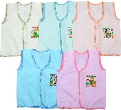 Sathiyas Printed Baby Boy,s, Baby Girl's V-neck Multicolor T-Shirt