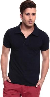 Lowcha Solid Men's Polo Black T-Shirt