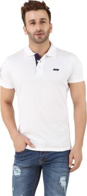 Spunk Solid Men's Polo White T-Shirt