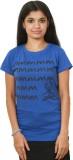 Auraa Printed Women's Round Neck Dark Bl...