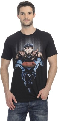 Superman Printed Men's Round Neck Black T-Shirt