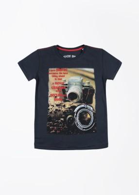 Status Quo Cubs Printed Boy's Round Neck Grey T-Shirt