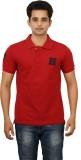 Huntler Self Design Men's Polo Neck Red ...
