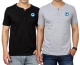 Banyan Roots Solid Men's Henley T-Shirt