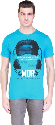 Clst Solid Men's Round Neck Blue T-Shirt