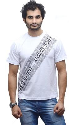 Poet's Choice Printed Men's Round Neck White T-Shirt
