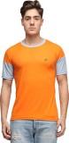 Effit Solid Men's Round Neck Orange, Gre...