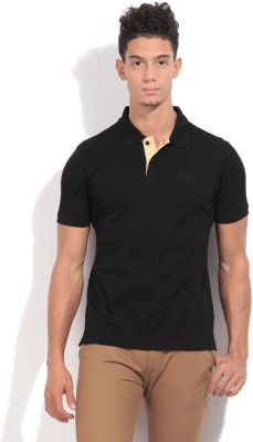 Arrow Sport Solid Men's Polo Black T-Shirt