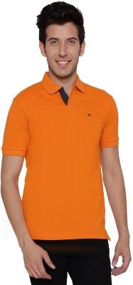 Threadz Solid Men's Polo Orange T-Shirt