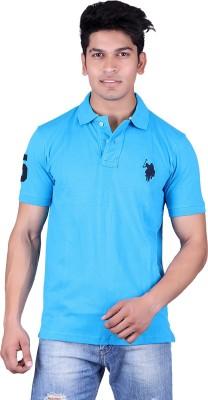 Jura Polo Solid Men's Polo Neck Light Blue T-Shirt