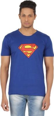 R-CROSS Printed Men,s Round Neck Blue T-Shirt