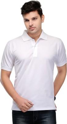 Kiosha Solid Men's Polo White T-Shirt