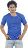 Shapers Solid Men's Round Neck Light Blu...