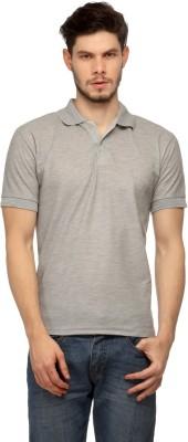 Davie Jones Solid Men's Polo Grey T-Shirt