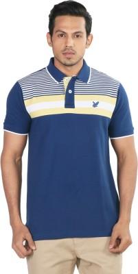 Provogue Printed Men's Polo Blue T-Shirt