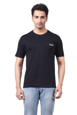 Regnum Solid Men's Round Neck Black T-Shirt