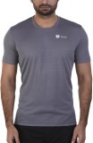 Tego Solid Men's Round Neck Grey T-Shirt