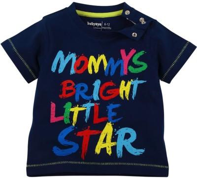 Babyoye Premium Printed Boy,s Round Neck Dark Blue T-Shirt
