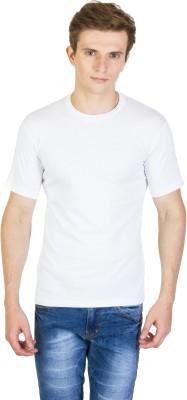 Rexler Solid Men's Round Neck White T-Shirt