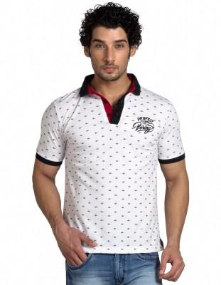 Klub Fox Printed Men's Polo Neck T-Shirt