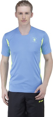 Green Wich United Polo Club Solid Men's Round Neck Light Blue T-Shirt