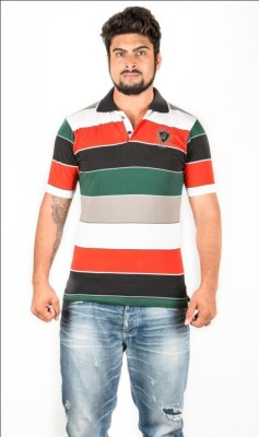 Navya Creations Printed Men's Polo Neck Multicolor T-Shirt
