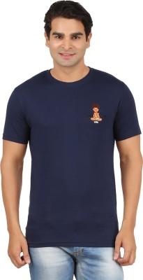 Togswear Embroidered Men's Round Neck Dark Blue T-Shirt
