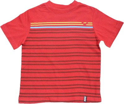 Mankoose Striped Boy's Round Neck T-Shirt