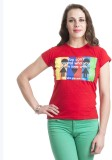 Finesse Printed Women's Round Neck Red T...