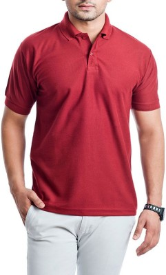 Aqa Solid Men's Polo Neck T-Shirt