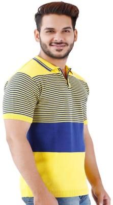 La MODE Striped Men's Fashion Neck Multicolor T-Shirt