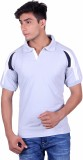 EX10 Solid Men's Polo Neck Grey T-Shirt