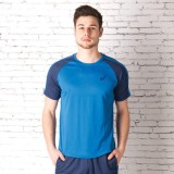 Asics Solid Men's Polo Neck Blue T-Shirt